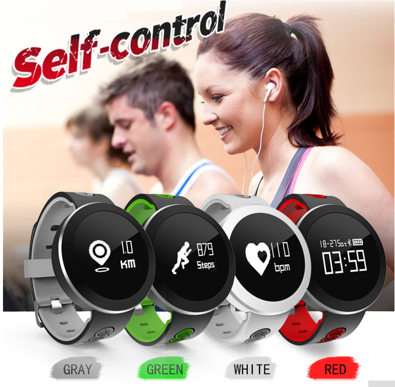 Q7 Smart watch multicolor wrist band watch IP68 waterproof smart