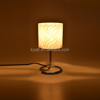 Mini Simple Cheap Twisted Metal Base Wholesale Table Lamp In ...