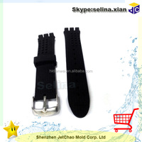silicone wact bands with Deployment Clasp for men