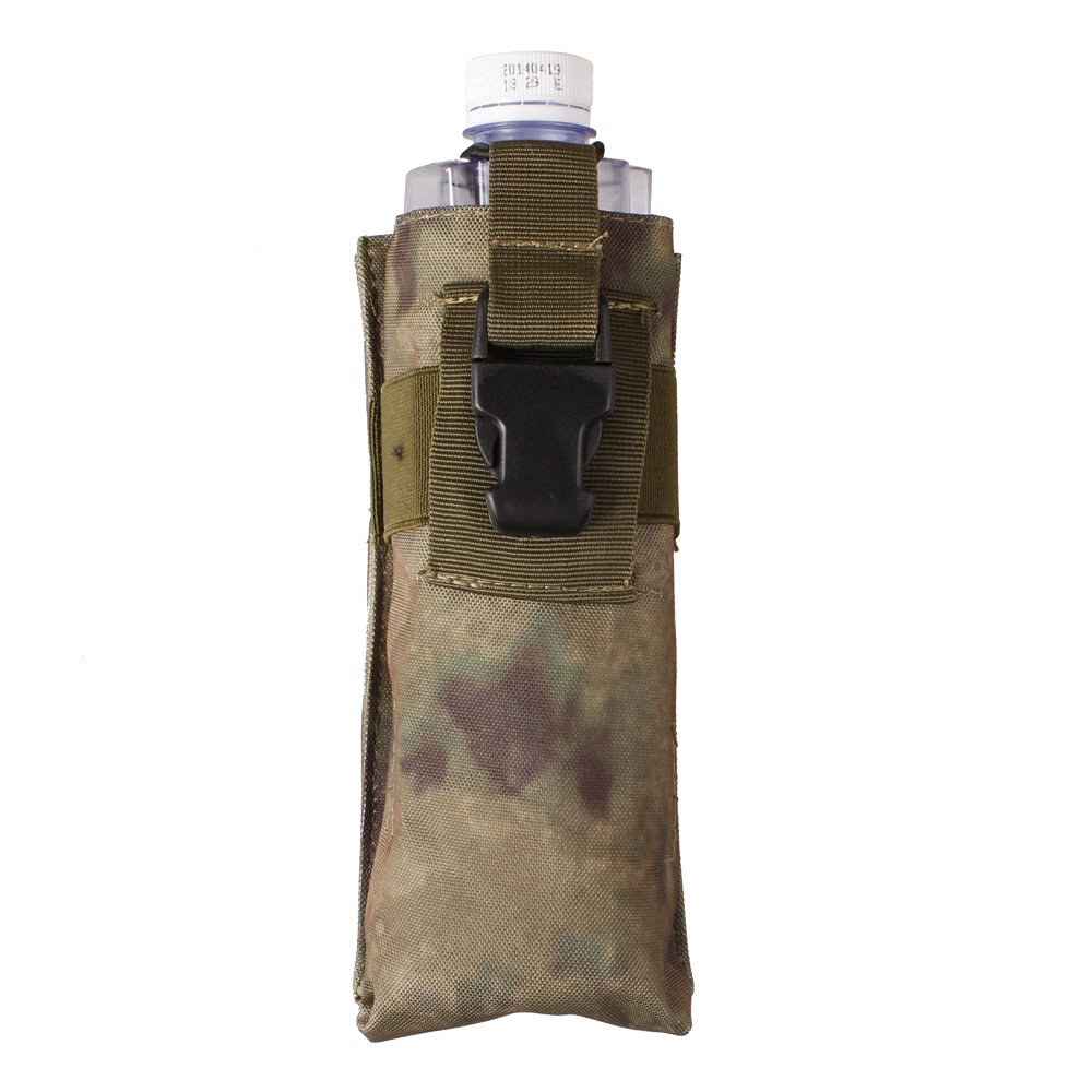 xhorizon TM Camo MOLLE Tactical 1000D Durable UV Resistant H2O Carrier Water Bottle Radio Pouch Bag for outside sport cycling