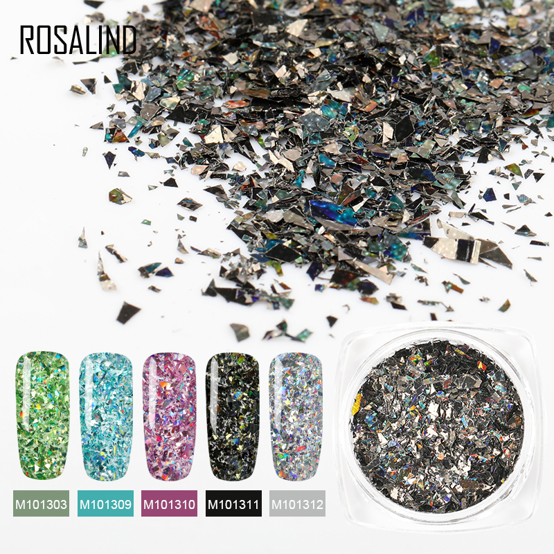 Rosalind custom logo sparkles chrome holographic <strong>nail</strong> art acrylic <strong>powder</strong> semi permanent shiny <strong>glitter</strong> <strong>nail</strong> <strong>powder</strong> for <strong>nail</strong> salon