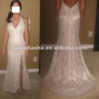 Noble deep V-neck with beadings and crystals on the organza top wedding dress OTHER CLAIRE'S COLLECTION