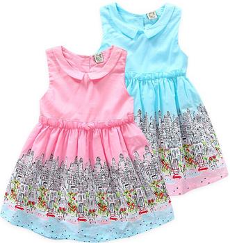 126b6ded976da6 Z10105a 2016 meisjes nieuwe katoenen jurk ontwerp groothandel kids jurk