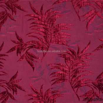 Red Color Leaf Design Polyester Jacquard Chenille Sofa Furniture Fabrics  For Uae Market - Buy Furniture Fabrics For Uae Market,Chenille Sofa  Furniture ...