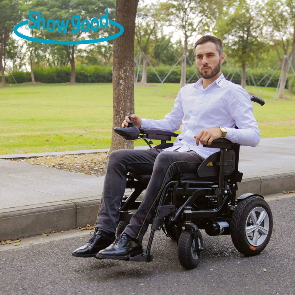 Gear motor power folding e power wheelchair with PG joystick
