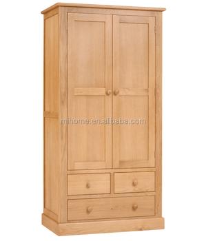 Modern Design Wardrobe With Cabniet Above Wooden Wardrobe Closet Structure  MDF Panel Oak Solid Wood Bedroom
