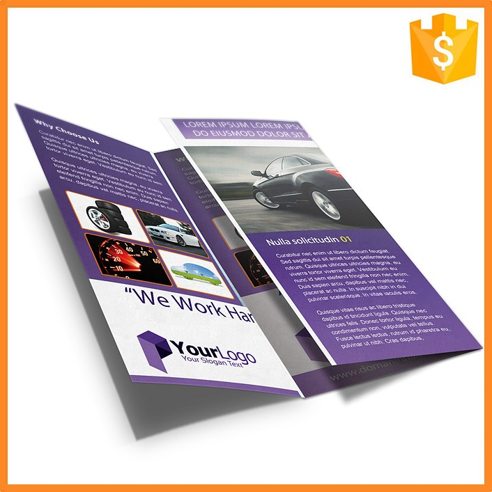 Fancy Tri-folded Creative Brochure Printing Design and Brochure Print