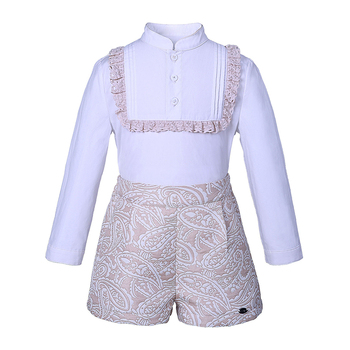 Pettigirl jacquard baby long sleeve birthday outfit