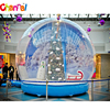 Giant inflatable human snow globe for christmas inflatable snow ball
