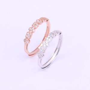 wholesale jewelry value pure 925 sterling silver diamond tiara ring with clear zircon made in china