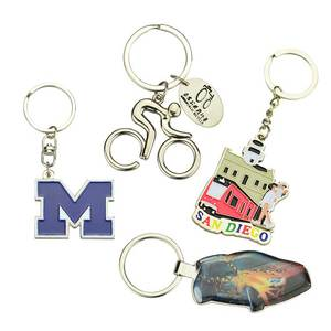 3D Titanium Car Bike Alphabet Custom Metal Key Ring