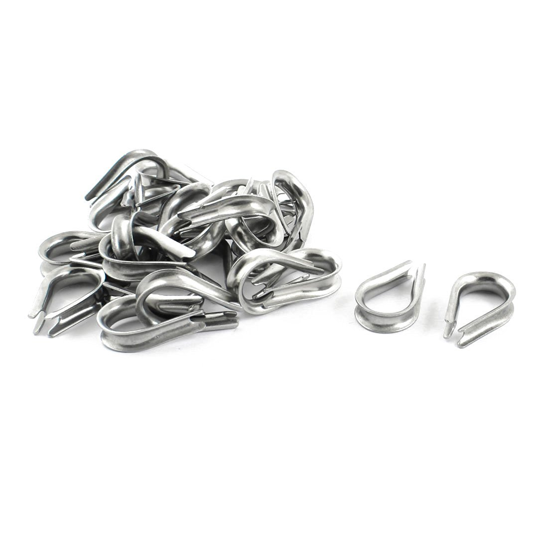 Buy Cable Thimbles - SODIAL(R) Stainless Steel 6mm Wire Rope Cable ...