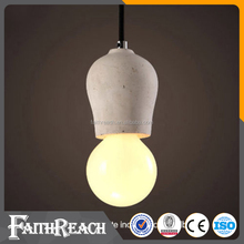Concrete Lamp Holder E27 Moon Surface Finish Gravel Pendant Light