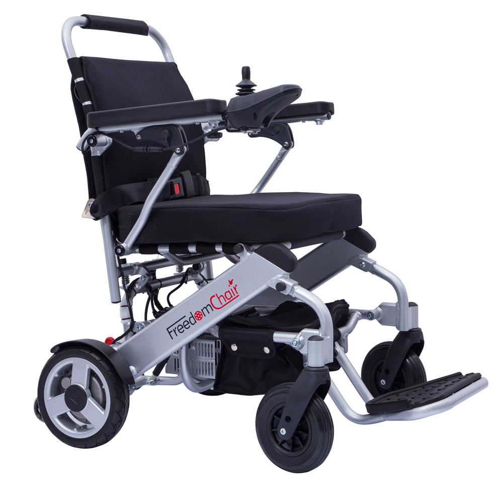 FreedomChair lightweight portable electric wheelchair with joystick