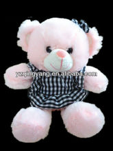 factory supply hot sell 30cm plush teddy bear soft animal toy in dress