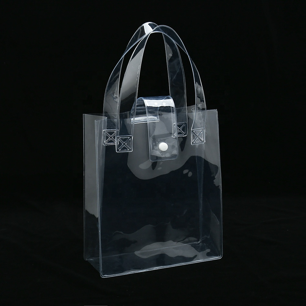 Durable et facile à nettoyer clair femme pvc transparent sac de maquillage