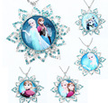 2016NEW Dis Fro Ney Zen Princess Charm Pendant Girls Necklace 925 Silver Plated Body Chain Bubblegum