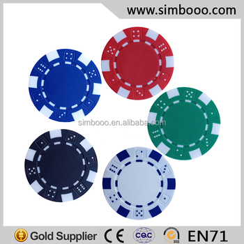 Customized Clay Poker Chips Without Par Value Jetton Buy Poker
