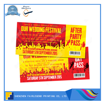 china offset ticket printer concert ticket printing and design buy