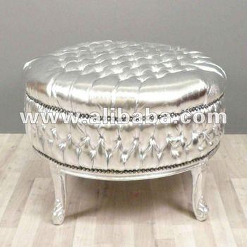 Round Sofa Ultra Neo Rococo Modern Silver Baroque Furniture