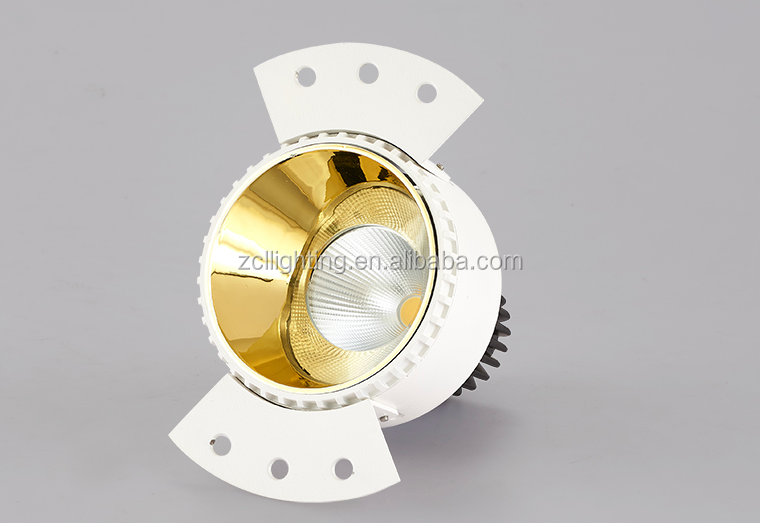 New Design Residential Recessed Ceiling Trimless 5W 10W 15W COB LED Frameless Downlight