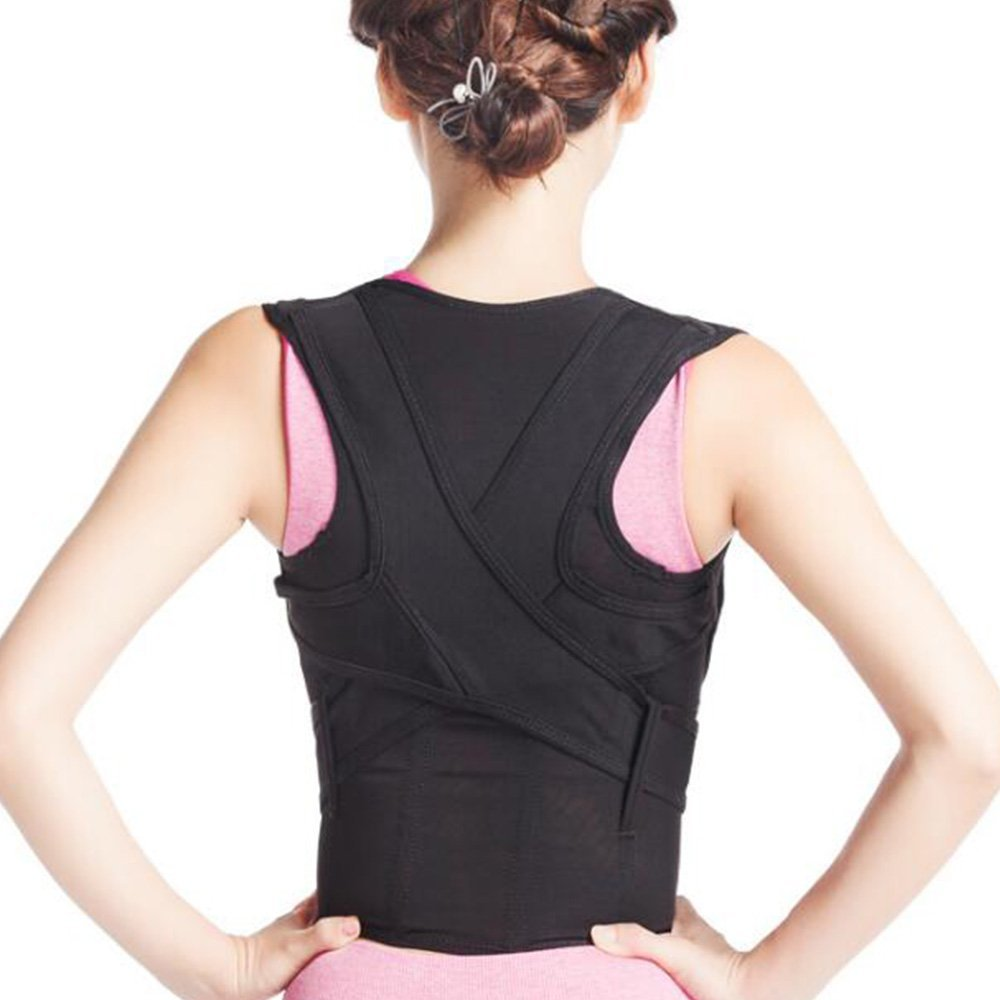 69a11253e9442 Get Quotations · MALLCROWN Posture Corrector Back Brace Clavicle Support  Brace