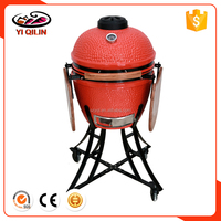 Charcoal Grills Grill Type 22 Inch Orange Skin Ceramic Kamado BBQ Grill