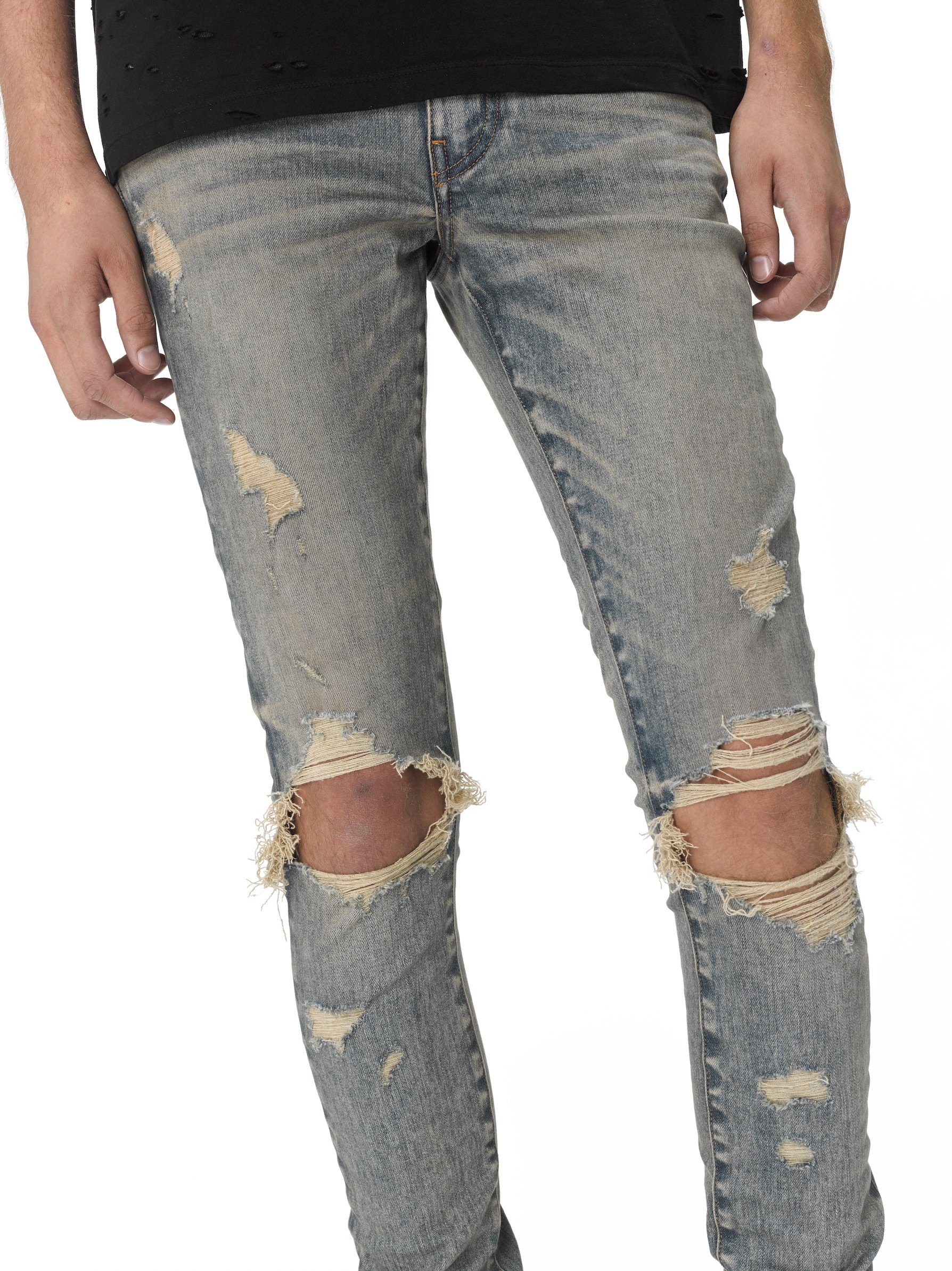 OEM new style bulk wholesale china pants men blue ripped private label jeans
