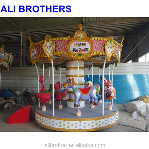 [Ali Brothers]Mid-East kids roundabouts carrousel horse rides carousel with trailer Kids portable carousel