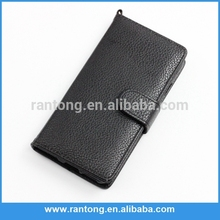 The Latest Hot Selling blank style flip stand pu leather cell phone case