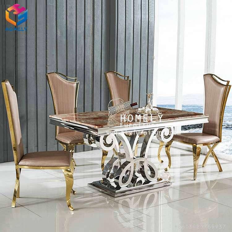 Modern wedding banquet furniture golden stainless steel chair