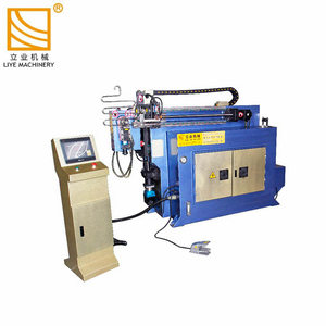 Electric Tube Bender Machine automatic feeding and 360 degree rotation CNC pipe bending machine price
