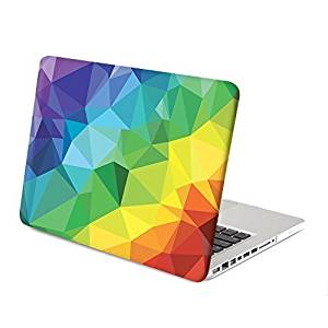 MacBook Pro 13 Case, GMYLE Hard Case Print Frosted for MacBook Pro 13 (Model: A1278) - Rainbow Geometry Pattern Rubber Coated Hard Shell Case Cover (Not fit for MacBook Pro 13 Retina)