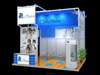 Aluminum extrusion trade show booth , portable display shelves for trade shows