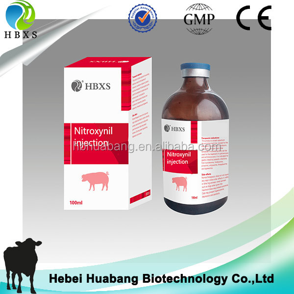 Veterinary Medicine Nitroxynil Injection For Cattle Sheep Pig Livestock