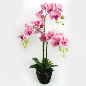 Potted artificial flowers orchid fabric flowers artificial realistic