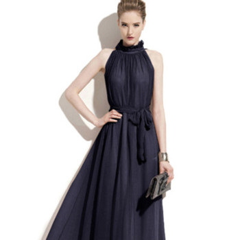 0183 Sexy Long Dress Chiffon New Style Party Dress Woman