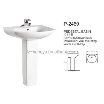 Sanitary Ware Ceramic Bathroom Pedestal Wash Basin Sink Parts