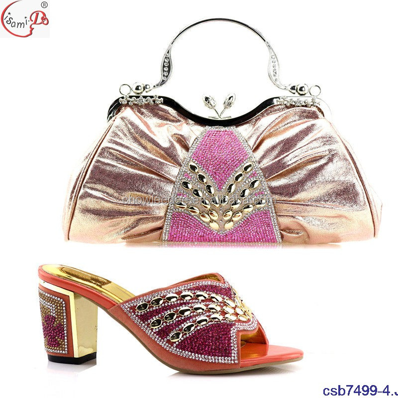 summer csb7499 Sets shoes bag Bag 4 matching and Shoes nigeria and African set italian qqnTrw0gtH
