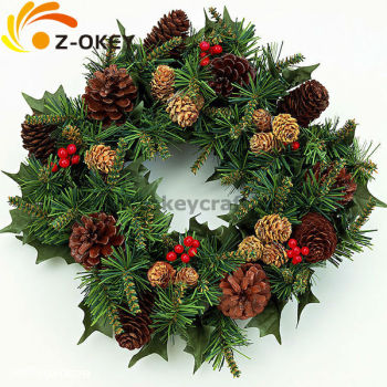 personalized design 30cm decorated wholesale artificial christmas wreaths
