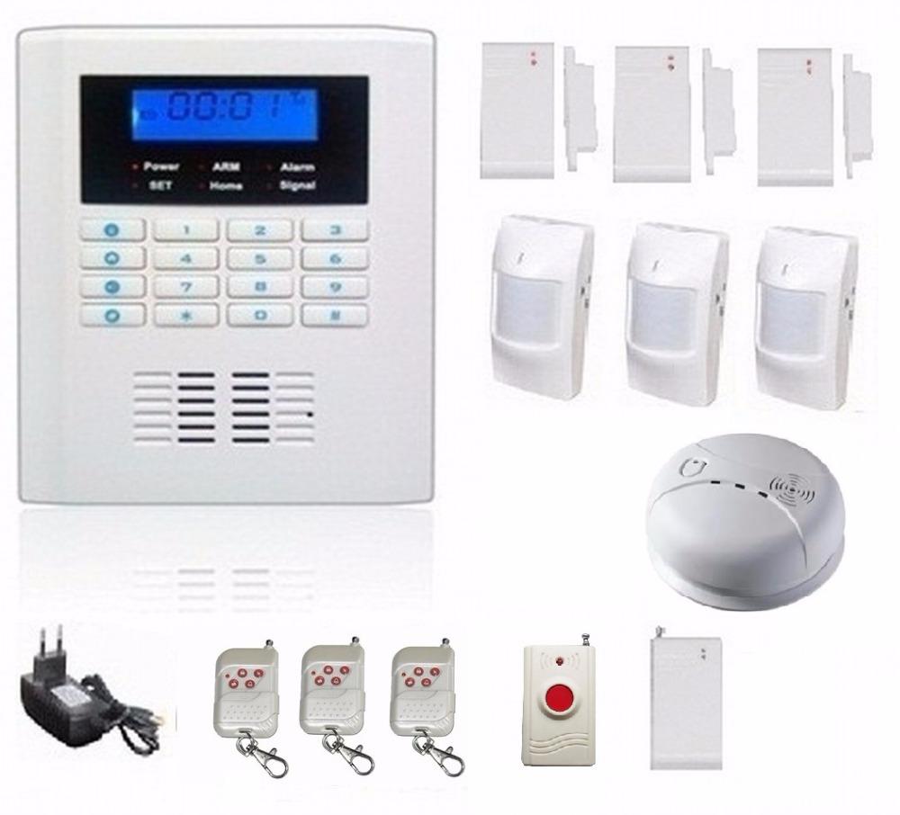 gsm sms with telephone alarm network home burglar alarm. Black Bedroom Furniture Sets. Home Design Ideas