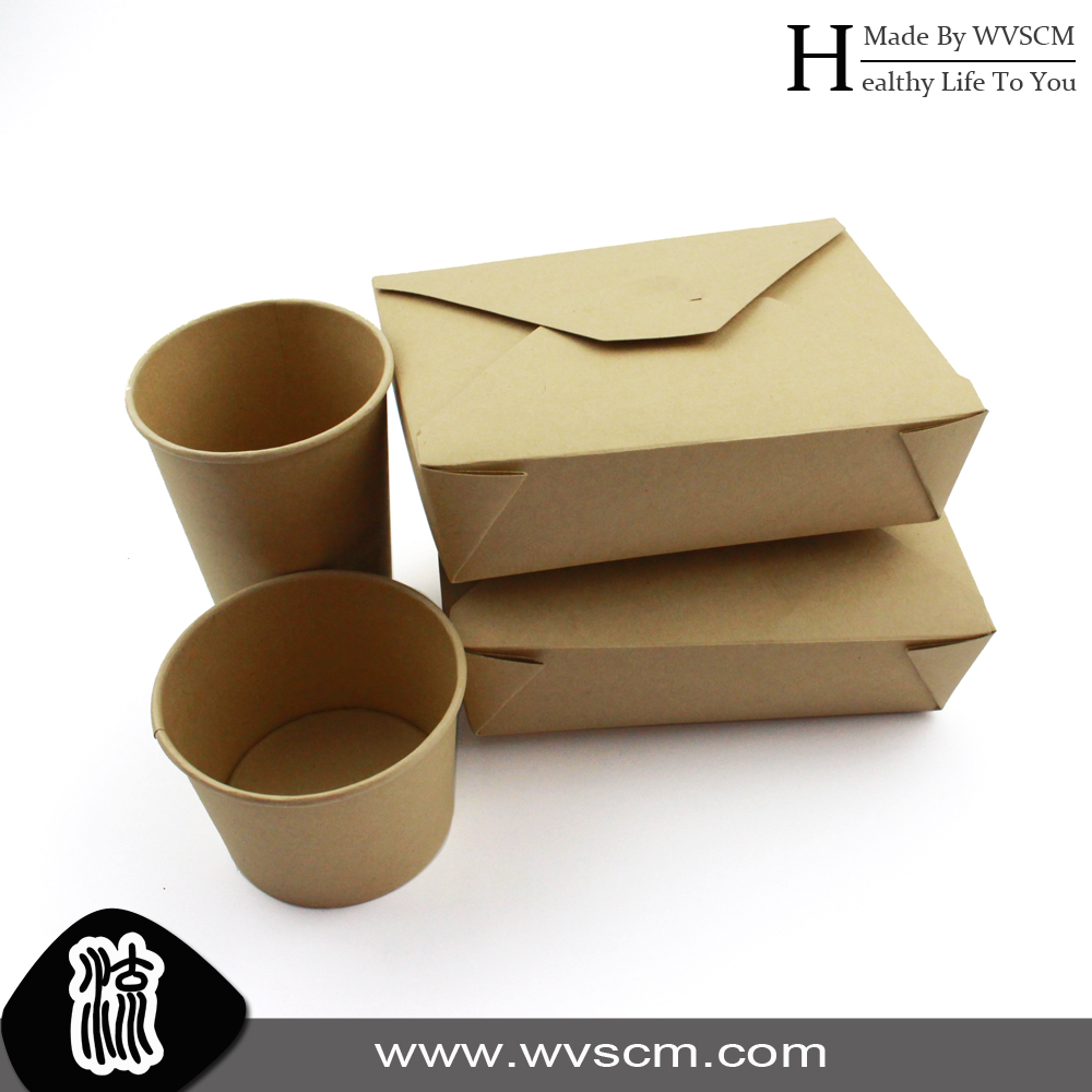 disposable food packing paper lunch box for togo