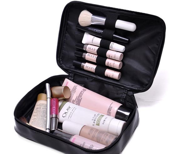 wholesale eco beauty pu pvc travel canvas cosmetic bag with zipper and logo