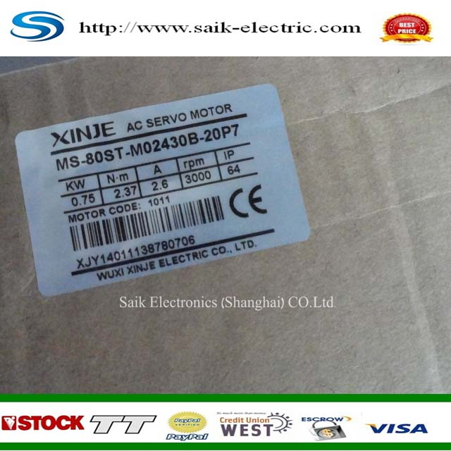 better price for xinjie 0.75 KW servo AC MS-80ST-M02430B-20P7 new and original new and original hot