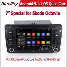 2 din car dvd android gps for Skoda OCTAVIA 2012/2013 Wifi 3G Bluetooth Radio RDS USB Steering wheel