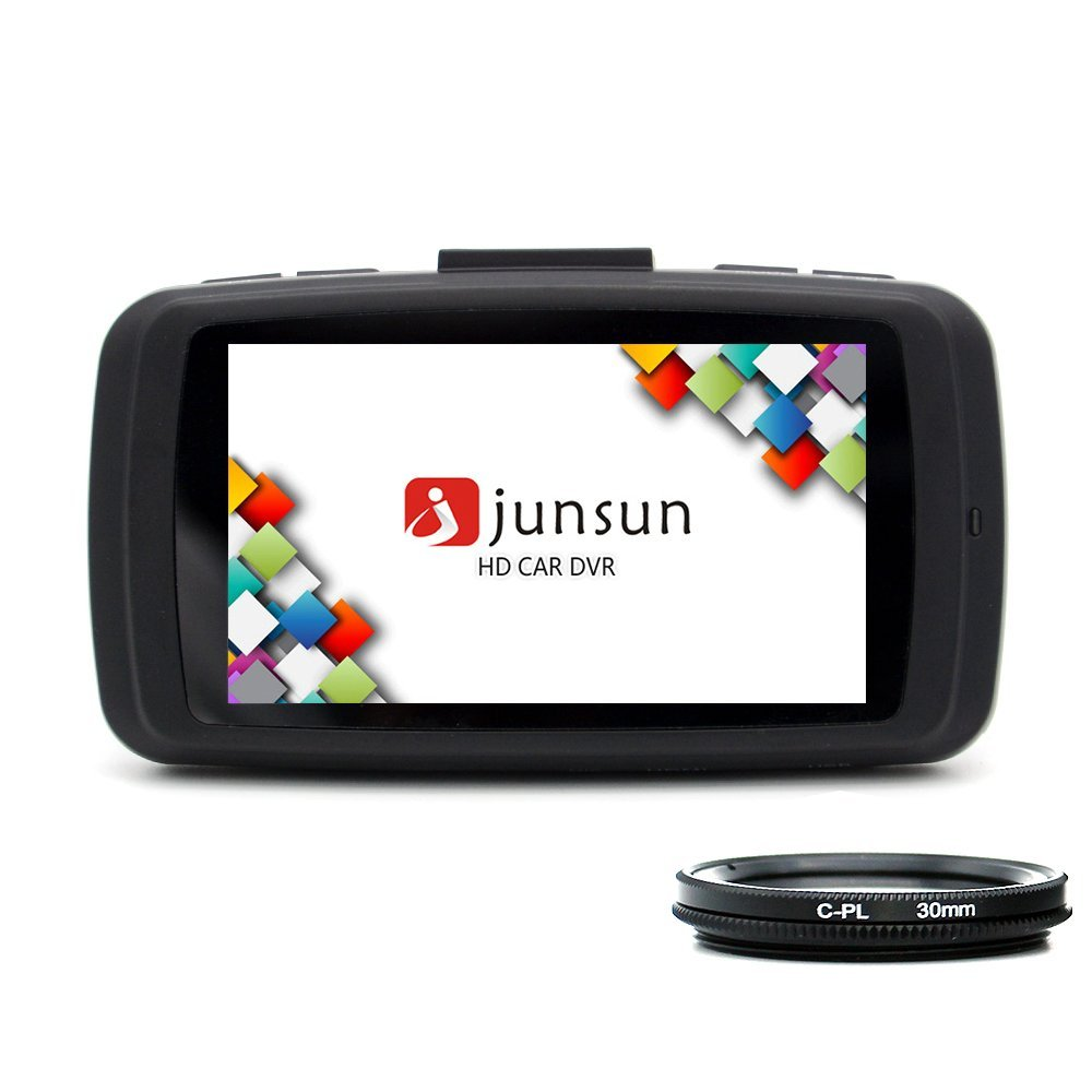 junsun Car DVR 1080P,HD Black Box Traveling Driving Data Recorder Camcorder Vehicle Camera Night Version Dashboard Dash Cam With 170 Degree Angle View Black, Come with 32GB TF Memory Card