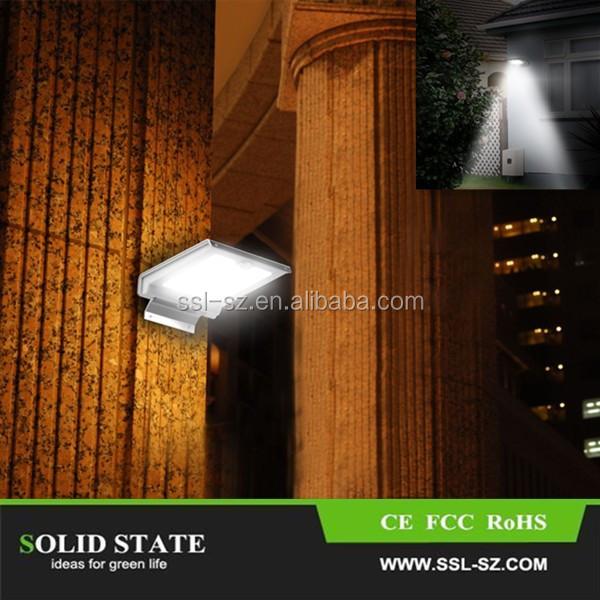 2015 46 unids luces led outdoor iluminacion solar cercas - Iluminacion solar exterior ...