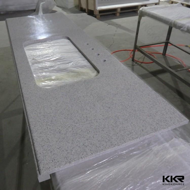 Wit graniet quartz restaurant keuken werkblad werkbladen ijdelheid tops tafelbladen product id - Witte quartz werkblad ...