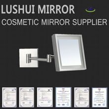 high quality bathroom 5x magnification wall mounted LED light bathroom tv mirror
