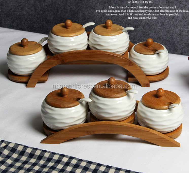 Ceramic condiment Container set (model B)